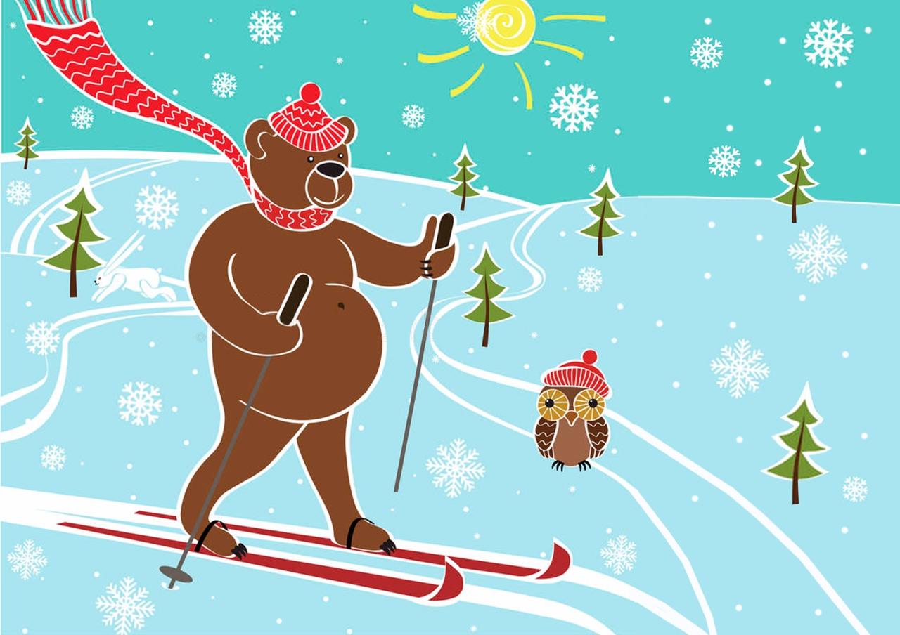 советских мишка на лыжах с сердечком картинка клубы перми адреса
